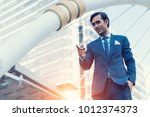 smart young business man on... | Shutterstock . vector #1012374373