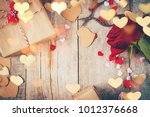 gift wrapping for the beloved....   Shutterstock . vector #1012376668