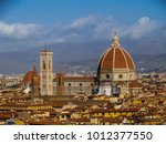 florence cathedral  doumo santa ... | Shutterstock . vector #1012377550