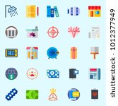 icons set about lifestyle with... | Shutterstock .eps vector #1012377949