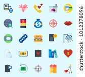 icons set about lifestyle with... | Shutterstock .eps vector #1012378096