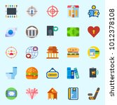 icons set about lifestyle with... | Shutterstock .eps vector #1012378108