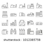 simple set of industrial... | Shutterstock .eps vector #1012385758