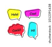 shifted color speech bubble   Shutterstock .eps vector #1012391638