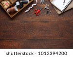flat lay aerial image of... | Shutterstock . vector #1012394200