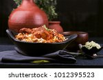 delicious and spicy chicken... | Shutterstock . vector #1012395523