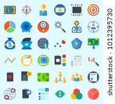 icons set about marketing with... | Shutterstock .eps vector #1012395730