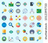 icons set about marketing with... | Shutterstock .eps vector #1012395733