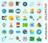 icons set about marketing with...   Shutterstock .eps vector #1012395769