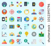 icons set about marketing with... | Shutterstock .eps vector #1012395796