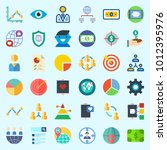 icons set about marketing with...   Shutterstock .eps vector #1012395976