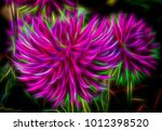 two glowing abstract circles... | Shutterstock . vector #1012398520