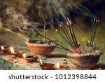 Burning Aromatic Incense Stick...