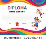 kids diploma certificate...   Shutterstock .eps vector #1012401454