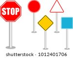 traffic sign vector eps 10.... | Shutterstock .eps vector #1012401706