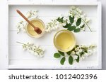 White Wooden Tray With Sweet...