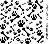 Background With Dog Paw Print...