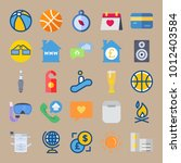 icon set about travel with card ... | Shutterstock .eps vector #1012403584