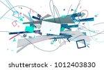 abstract trendy design... | Shutterstock . vector #1012403830
