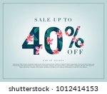 40  lettering handmade with... | Shutterstock .eps vector #1012414153