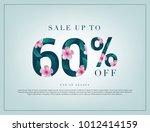 60  lettering handmade with... | Shutterstock .eps vector #1012414159