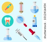 icons set about medical with... | Shutterstock .eps vector #1012416454