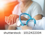 geriatric doctor or... | Shutterstock . vector #1012422334