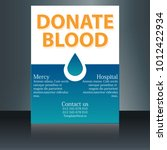 blood donation concept with... | Shutterstock .eps vector #1012422934
