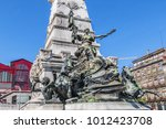 detail of the monument to... | Shutterstock . vector #1012423708