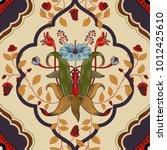 vector floral pattern ... | Shutterstock .eps vector #1012425610