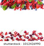 red and black blue fruits and... | Shutterstock . vector #1012426990