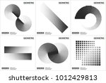 set 6 universal halftone... | Shutterstock .eps vector #1012429813