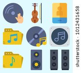 icons set about music with... | Shutterstock .eps vector #1012431658