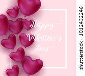 happy valentines day vector crad | Shutterstock .eps vector #1012432246