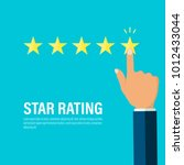 star rating  businessman hand