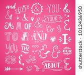 catchwords and ampersands... | Shutterstock .eps vector #1012436950