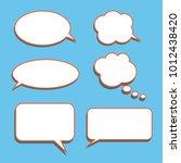 vector set of stickers of... | Shutterstock .eps vector #1012438420
