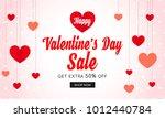 valentine's day sale banner...   Shutterstock .eps vector #1012440784