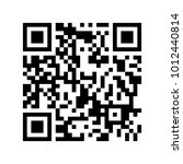 sample qr code vector icon | Shutterstock .eps vector #1012440814