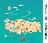 turkey vector vacations... | Shutterstock .eps vector #1012444033
