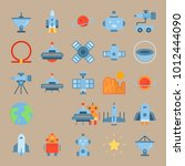 icon set about universe with... | Shutterstock .eps vector #1012444090