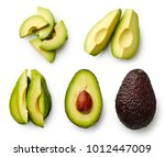 Whole And Sliced Avocado...