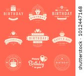 happy birthday badges and... | Shutterstock .eps vector #1012447168