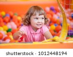 happy little kid playing at... | Shutterstock . vector #1012448194