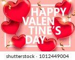 vector valentine's day design... | Shutterstock .eps vector #1012449004