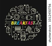 breakfast colorful gradient... | Shutterstock .eps vector #1012450756