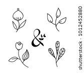 hand drawn vintage ampersand... | Shutterstock .eps vector #1012452880