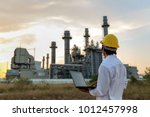 engineer is checking gas... | Shutterstock . vector #1012457998