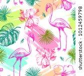 decorative seamless pattern...   Shutterstock .eps vector #1012459798