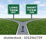 long term and short term... | Shutterstock . vector #1012461739